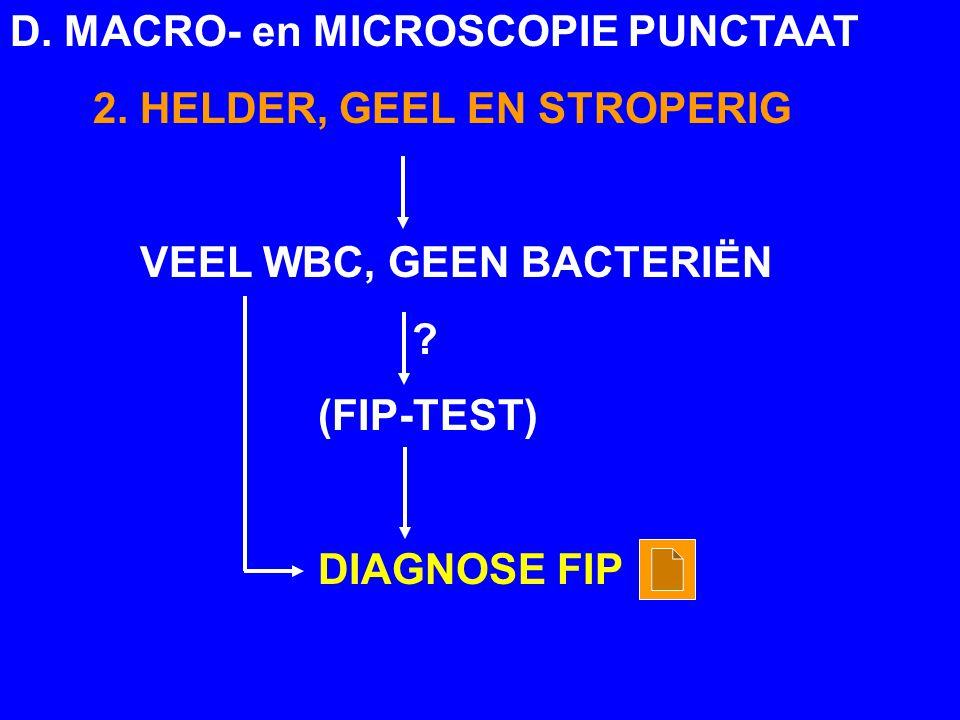 D. MACRO- en MICROSCOPIE PUNCTAAT