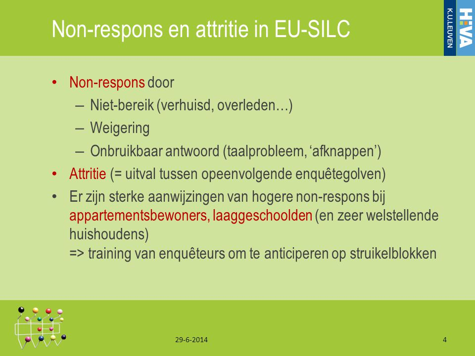 Non-respons en attritie in EU-SILC