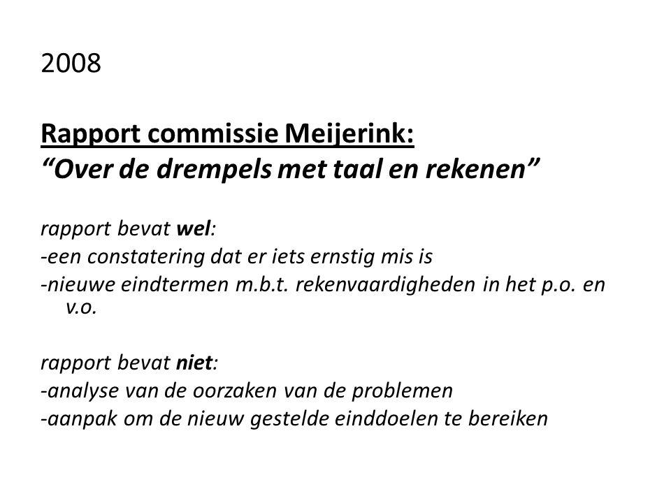 Rapport commissie Meijerink: Over de drempels met taal en rekenen