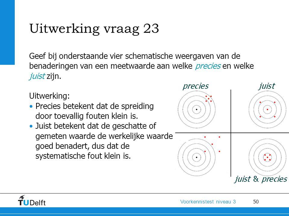 Uitwerking vraag 23 Geef bij onderstaande vier schematische weergaven van de. benaderingen van een meetwaarde aan welke precies en welke.