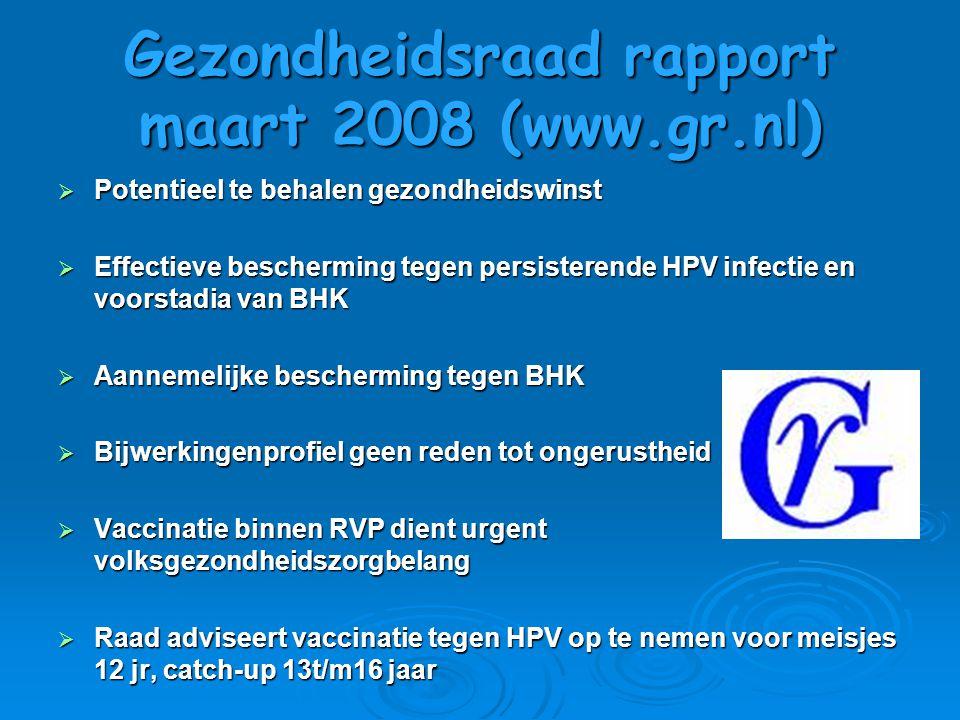 Gezondheidsraad rapport maart 2008 (www.gr.nl)