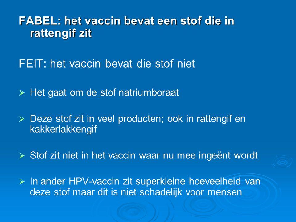 FABEL: het vaccin bevat een stof die in rattengif zit