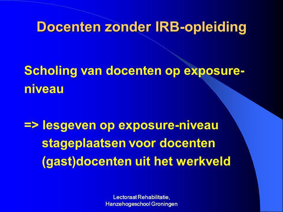 Docenten zonder IRB-opleiding