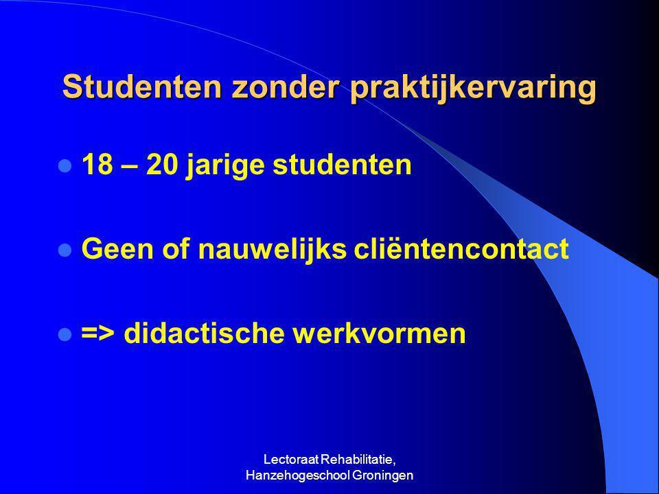 Studenten zonder praktijkervaring