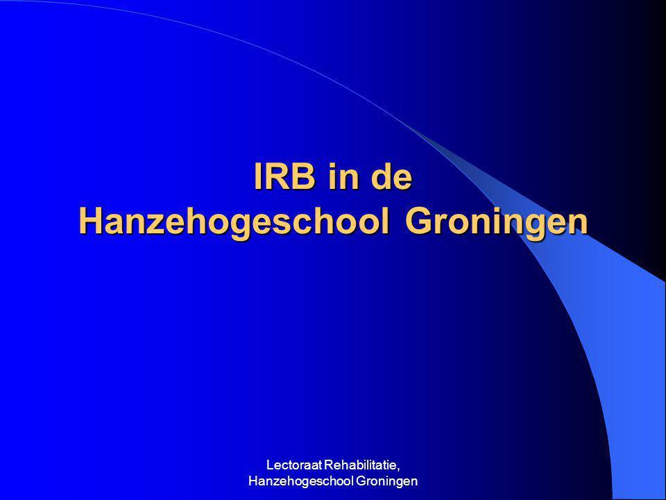 IRB in de Hanzehogeschool Groningen