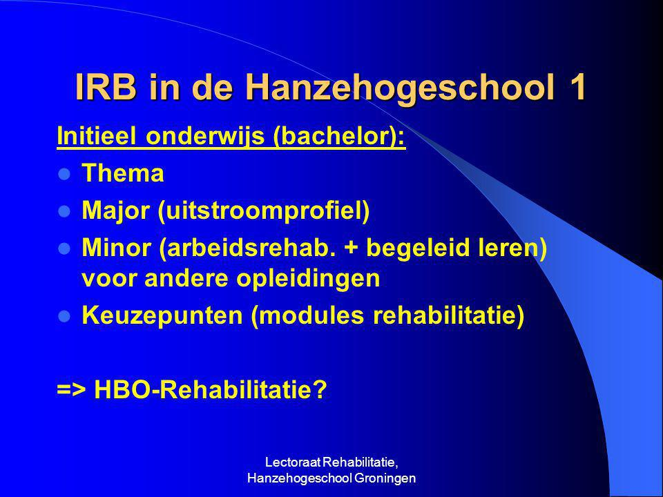 IRB in de Hanzehogeschool 1