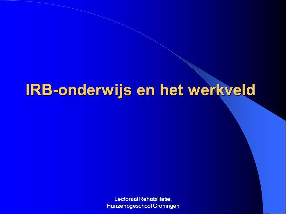 IRB-onderwijs en het werkveld