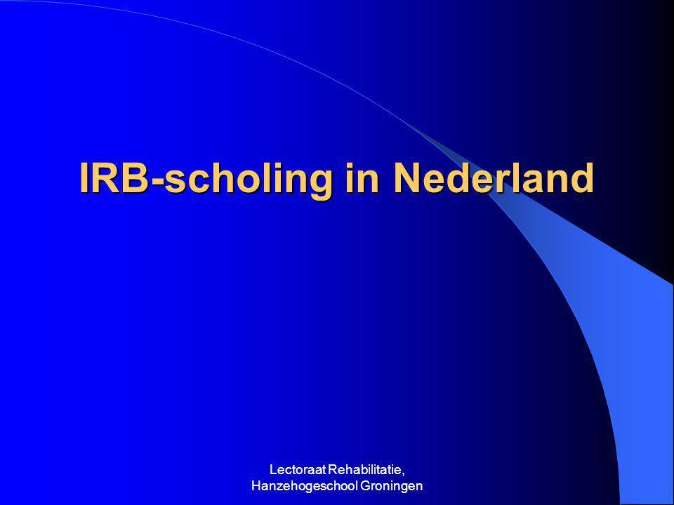 IRB-scholing in Nederland