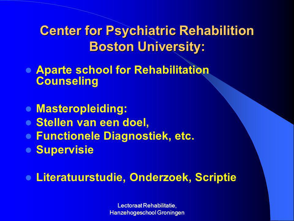 Center for Psychiatric Rehabilition Boston University: