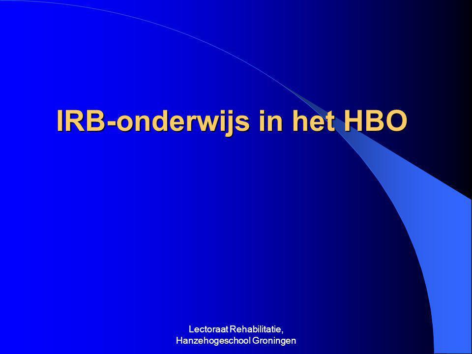 IRB-onderwijs in het HBO