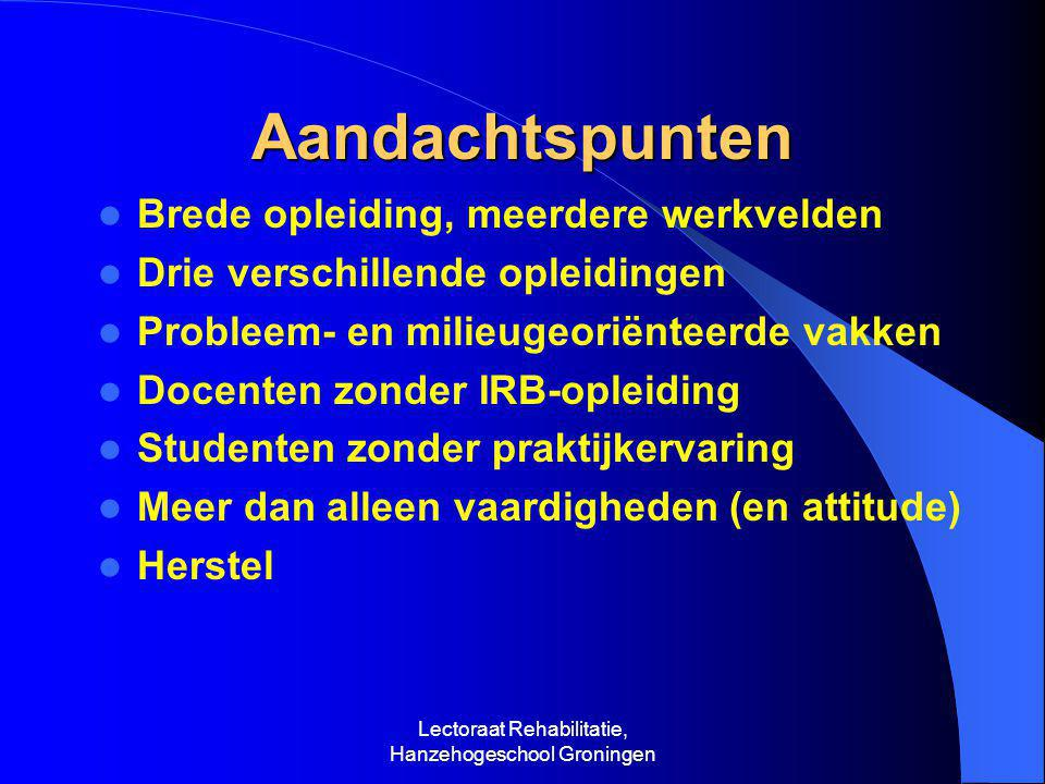 Lectoraat Rehabilitatie, Hanzehogeschool Groningen