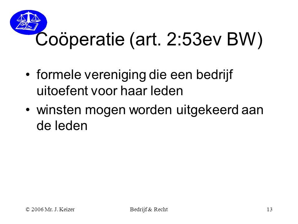 Coöperatie (art. 2:53ev BW)