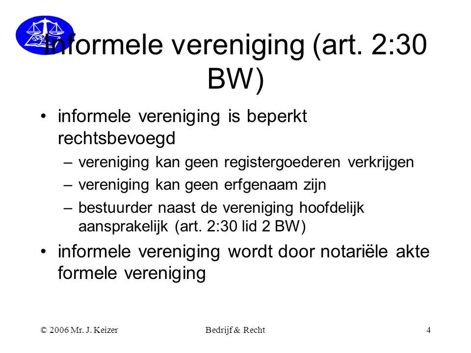 Informele vereniging (art. 2:30 BW)