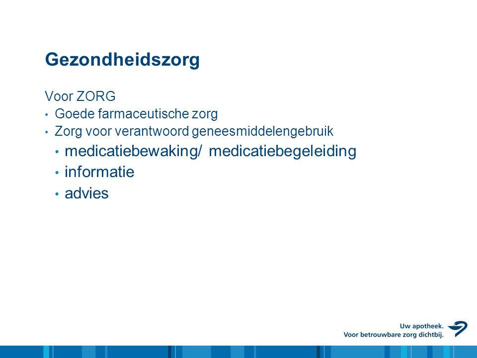 Gezondheidszorg medicatiebewaking/ medicatiebegeleiding informatie