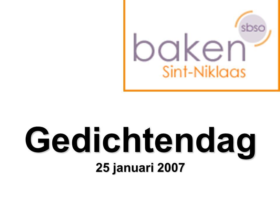 Gedichtendag 25 januari 2007
