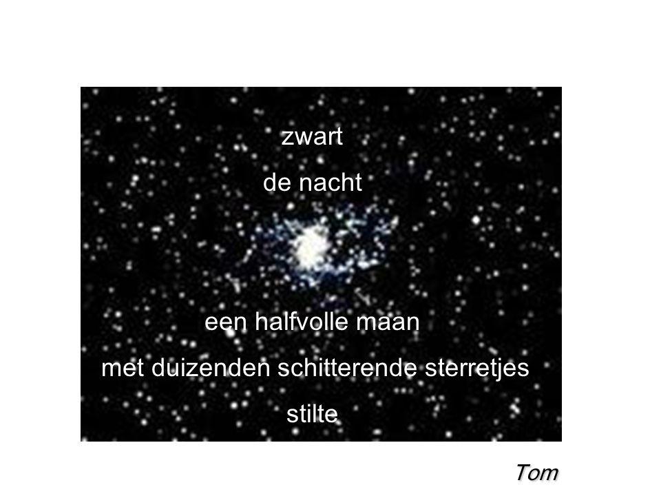 met duizenden schitterende sterretjes
