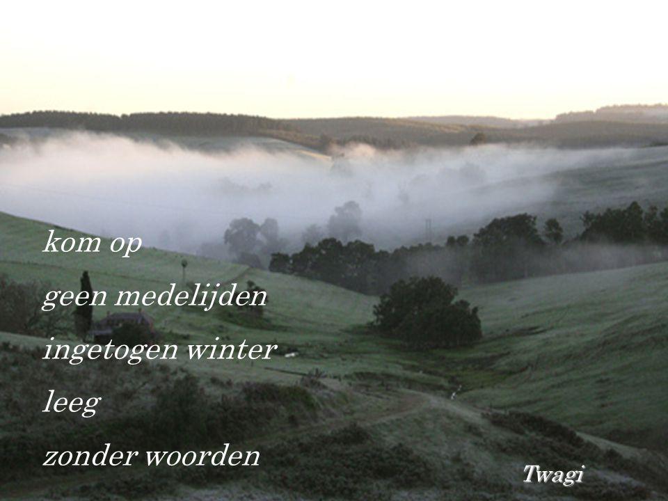 kom op geen medelijden ingetogen winter leeg zonder woorden Twagi