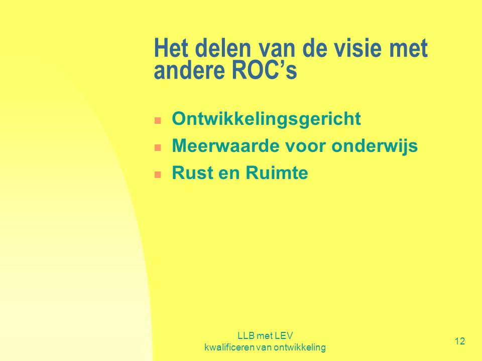 Het delen van de visie met andere ROC's