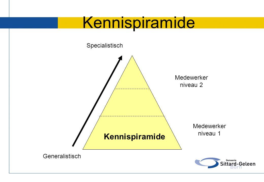 Kennispiramide Kennispiramide Specialistisch niveau 2 Medewerker