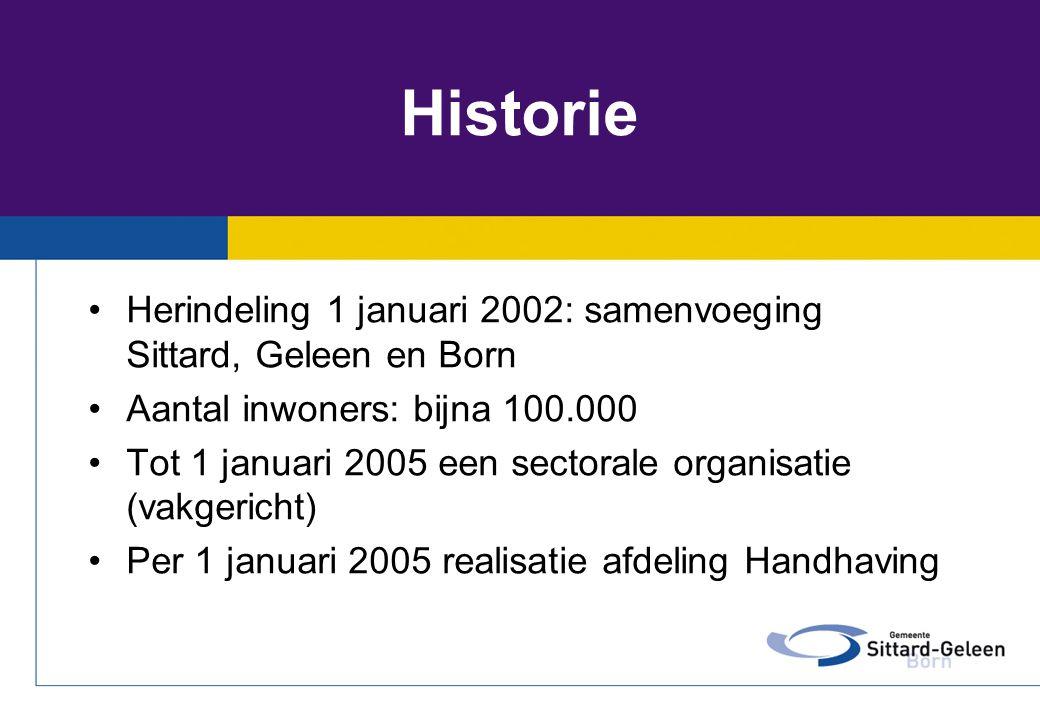 Historie Herindeling 1 januari 2002: samenvoeging Sittard, Geleen en Born. Aantal inwoners: bijna 100.000.