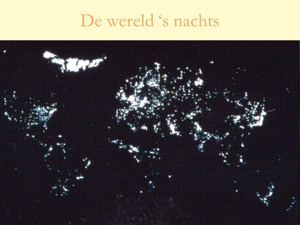 De wereld 's nachts
