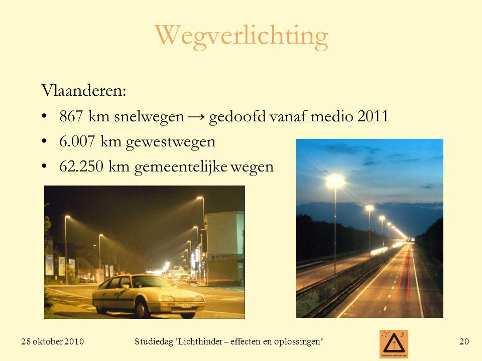 Wegverlichting Vlaanderen: 867 km snelwegen → gedoofd vanaf medio 2011