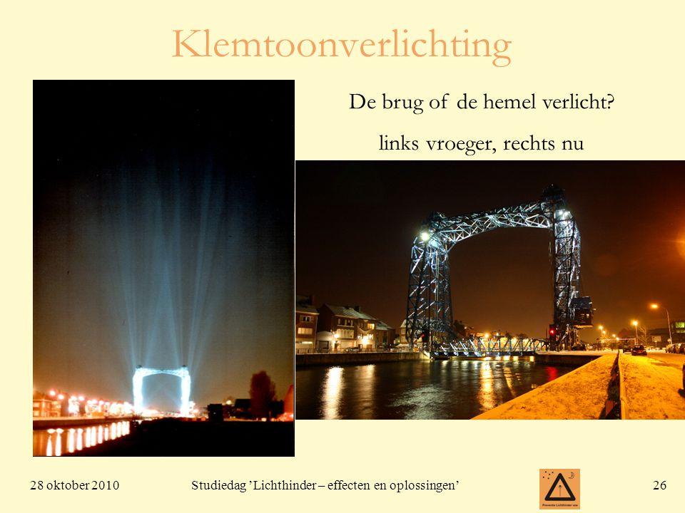 Klemtoonverlichting De brug of de hemel verlicht
