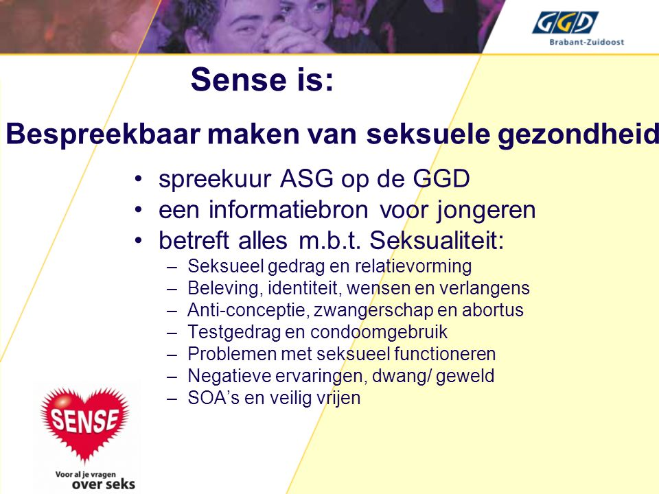 Sense is: Bespreekbaar maken van seksuele gezondheid
