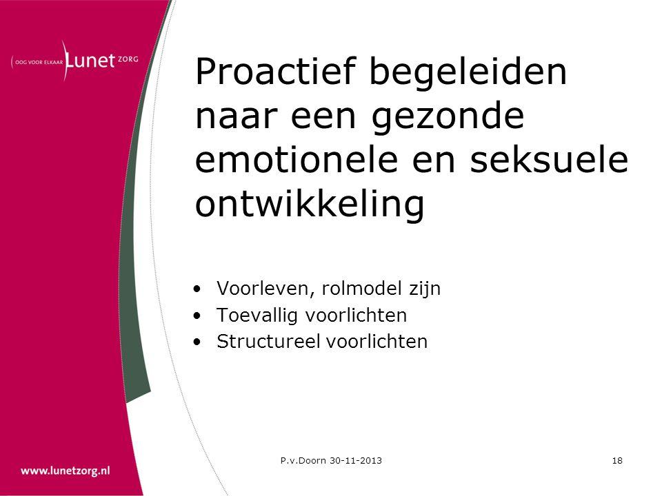 Proactief begeleiden naar een gezonde emotionele en seksuele ontwikkeling
