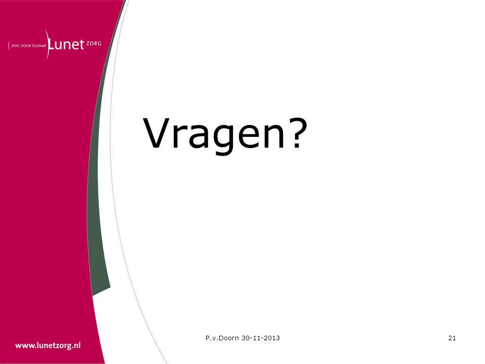 Vragen P.v.Doorn 30-11-2013