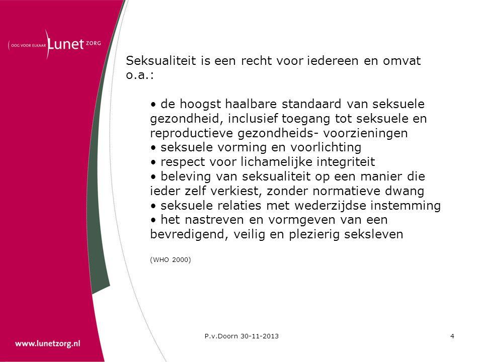 Seksualiteit is een recht voor iedereen en omvat o.a.: