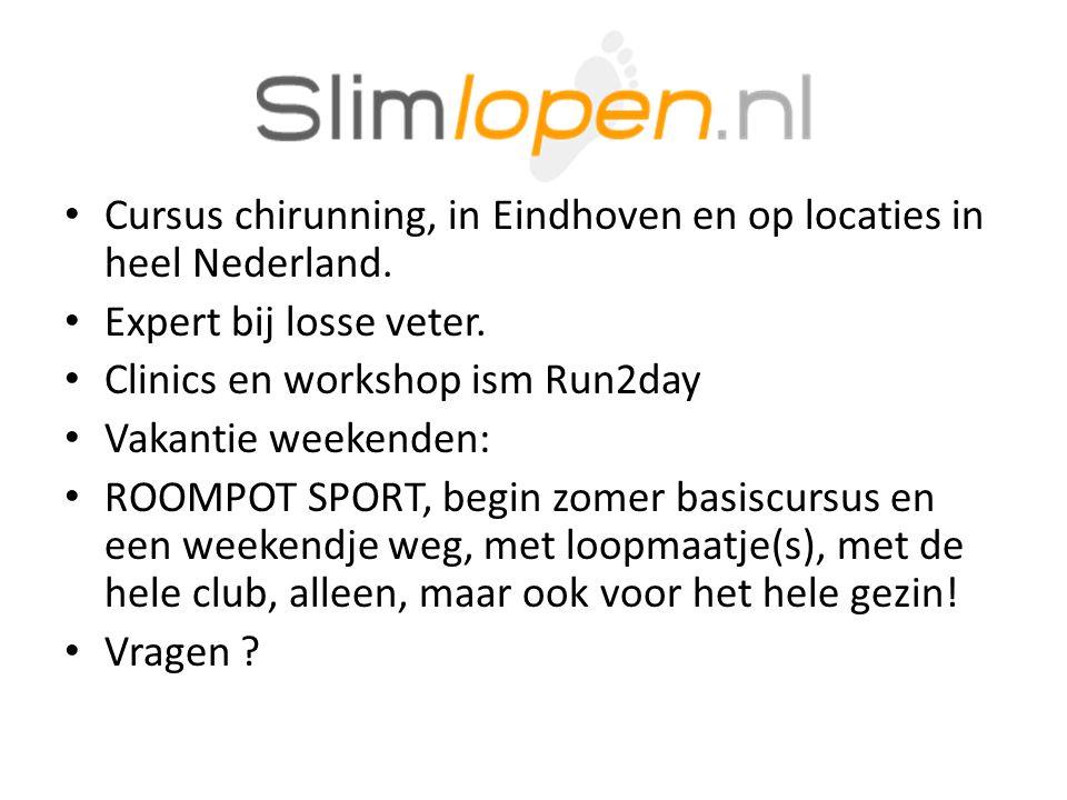 Cursus chirunning, in Eindhoven en op locaties in heel Nederland.