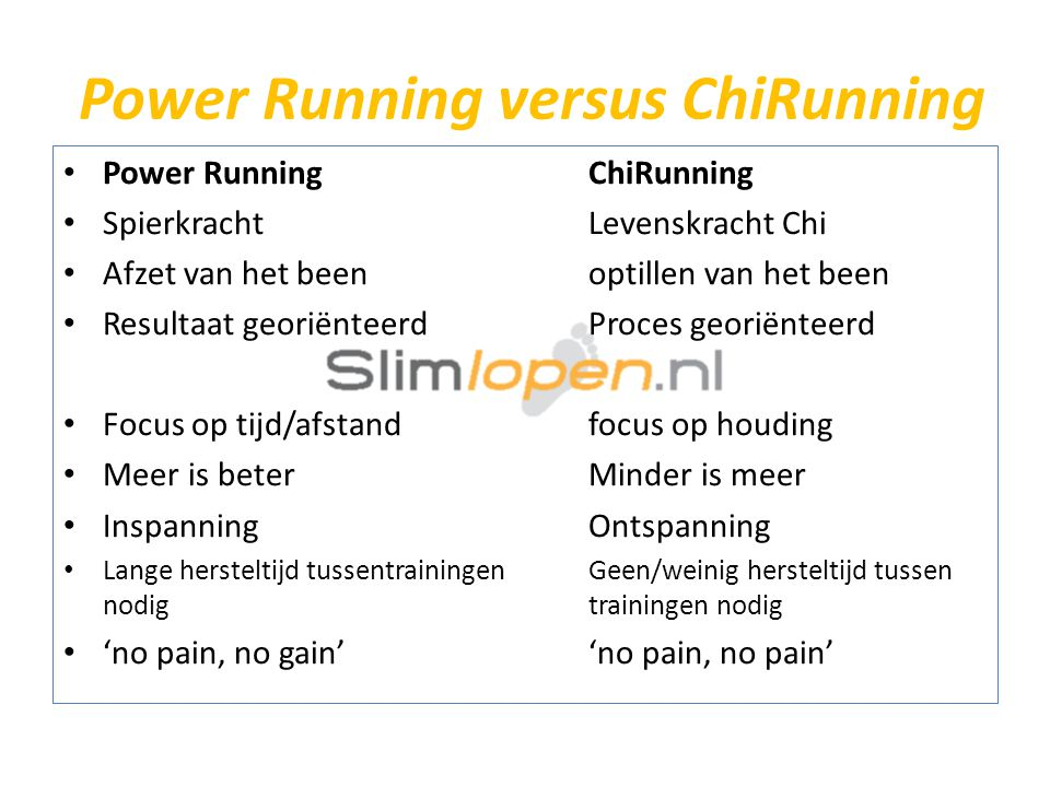 Power Running versus ChiRunning