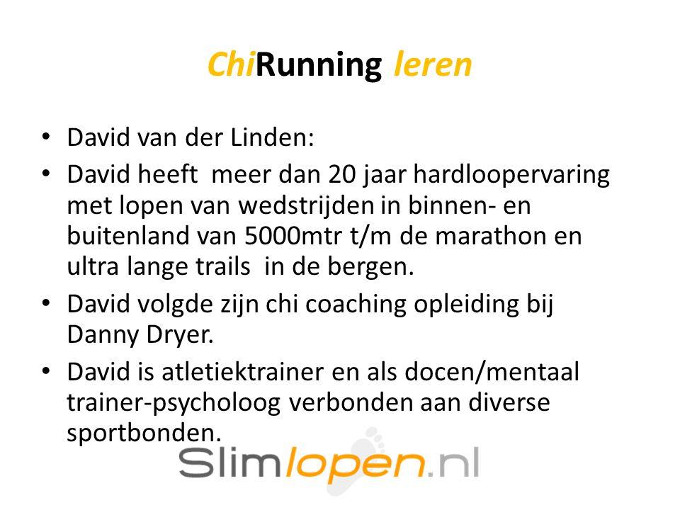ChiRunning leren David van der Linden: