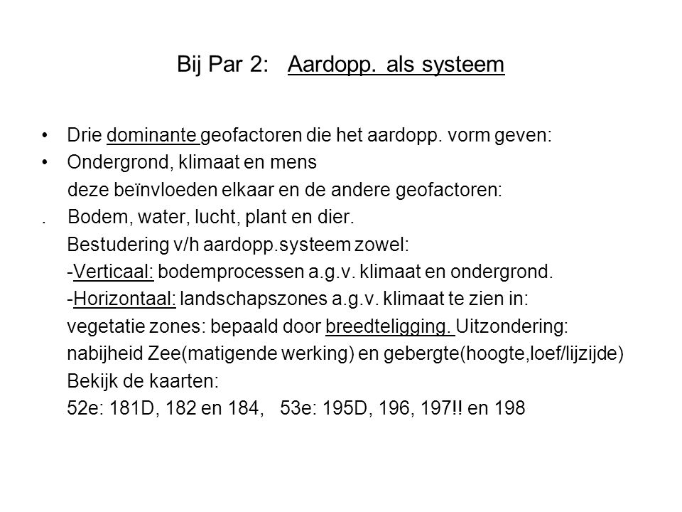 Bij Par 2: Aardopp. als systeem