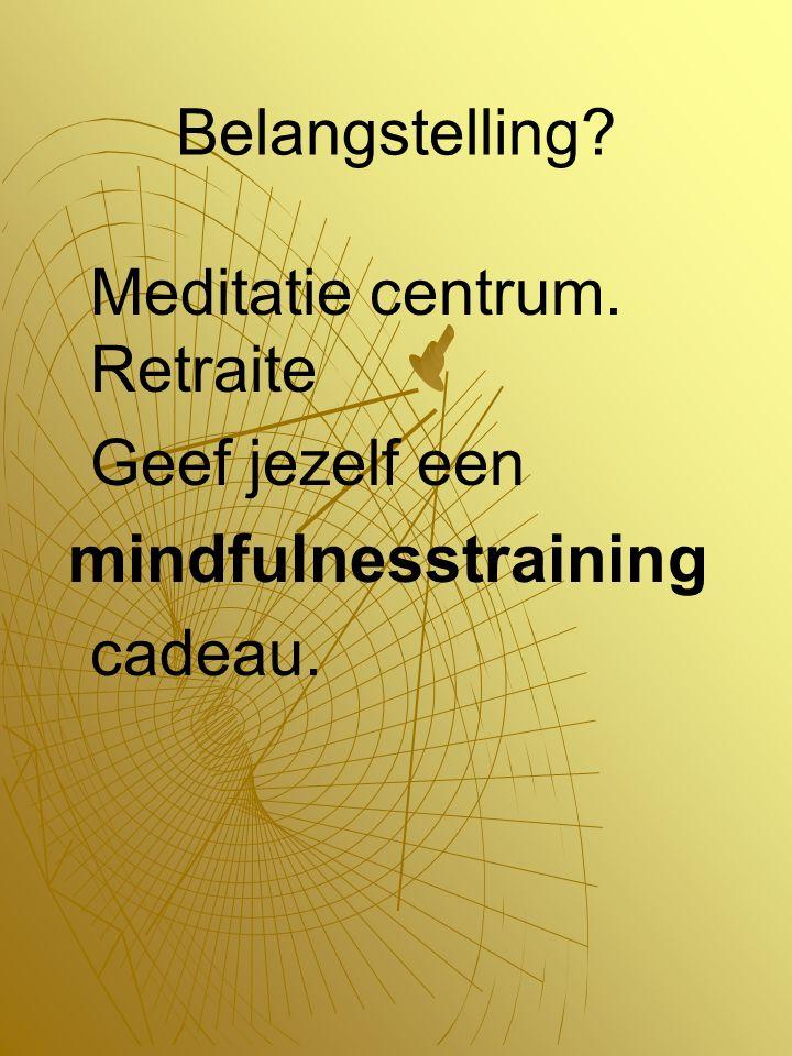 Belangstelling Meditatie centrum. Retraite Geef jezelf een mindfulnesstraining cadeau.