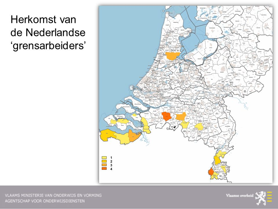 Herkomst van de Nederlandse 'grensarbeiders'