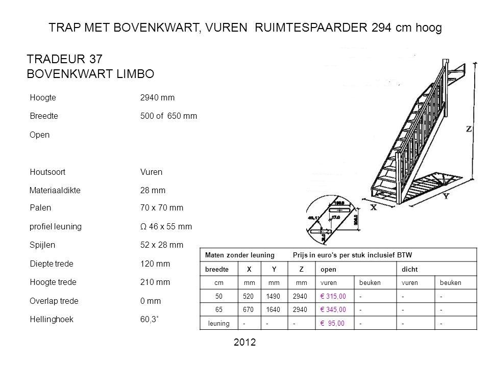 TRAP MET BOVENKWART, VUREN RUIMTESPAARDER 294 cm hoog