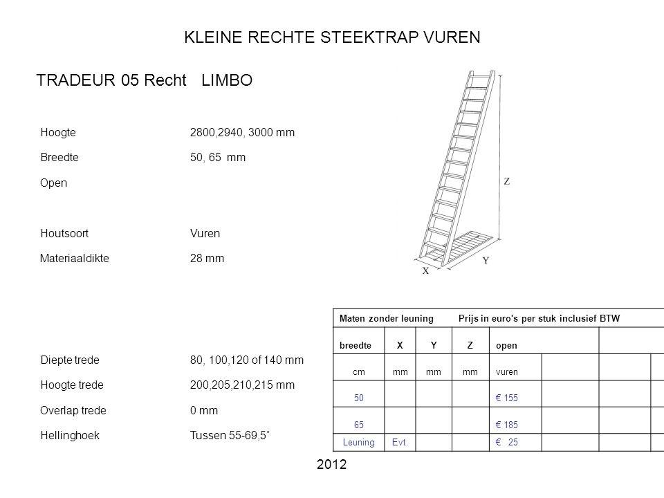 KLEINE RECHTE STEEKTRAP VUREN