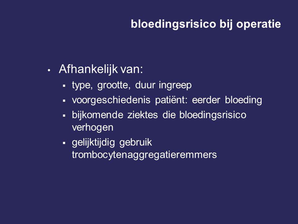 bloedingsrisico bij operatie