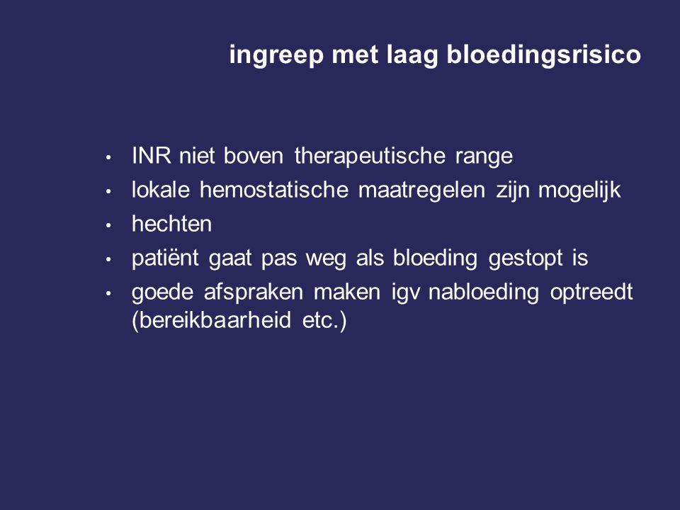ingreep met laag bloedingsrisico