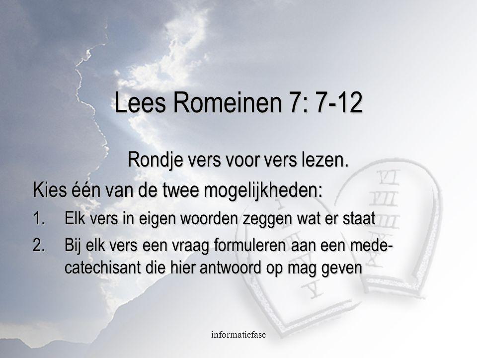 Rondje vers voor vers lezen.