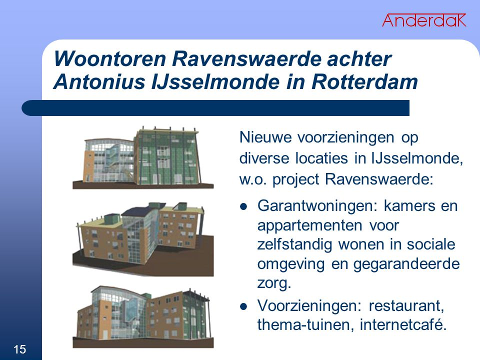 Woontoren Ravenswaerde achter Antonius IJsselmonde in Rotterdam