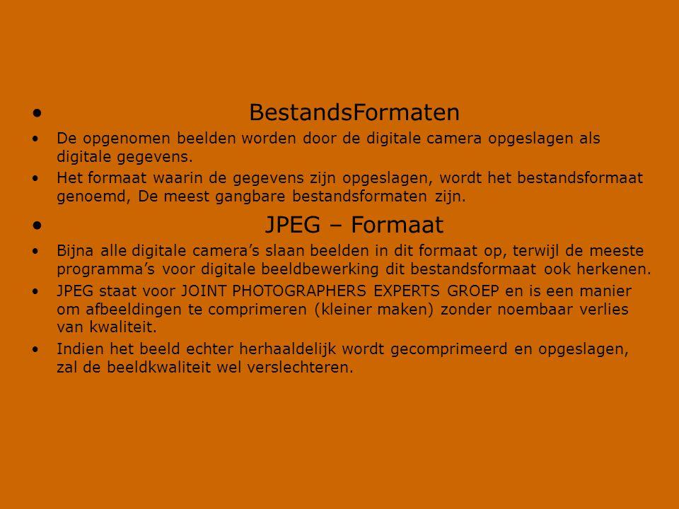 BestandsFormaten JPEG – Formaat