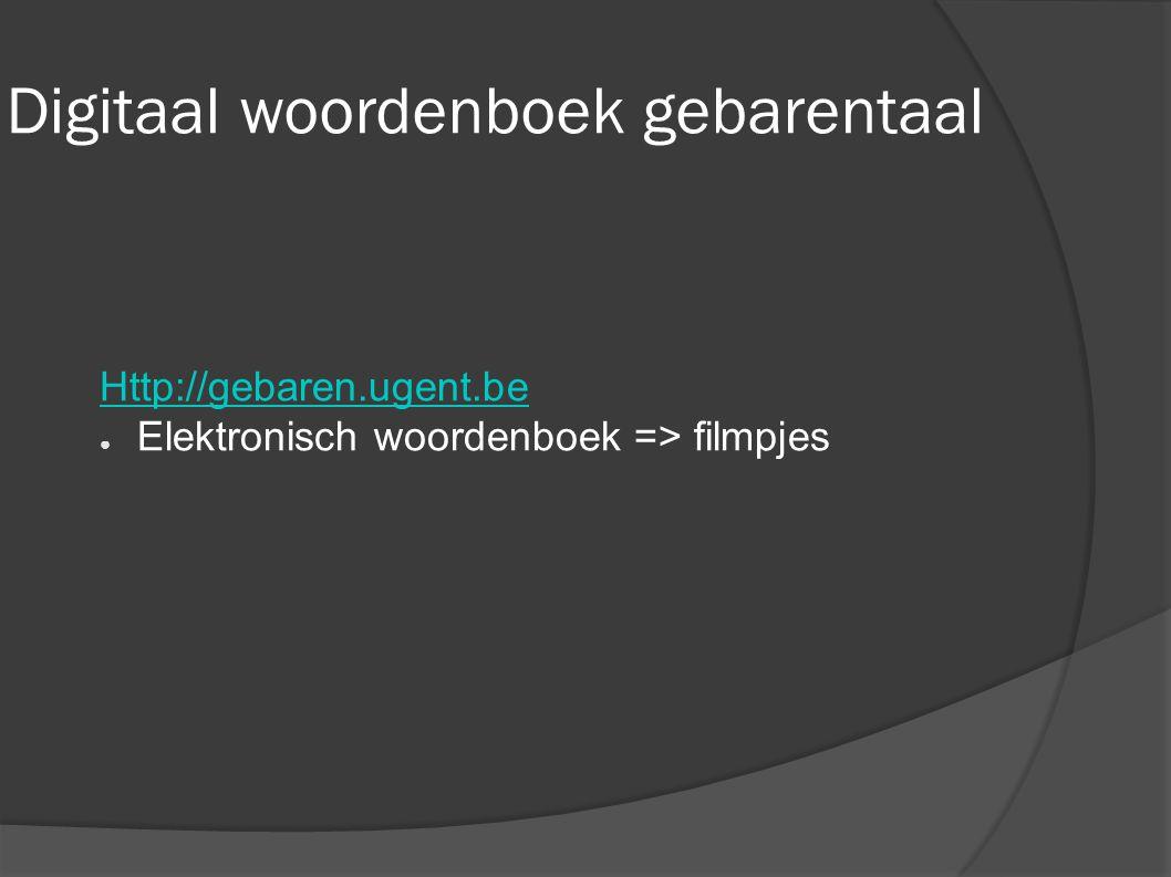 Digitaal woordenboek gebarentaal