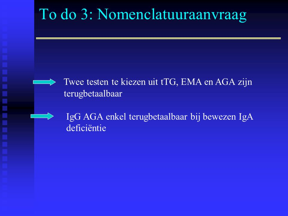 To do 3: Nomenclatuuraanvraag