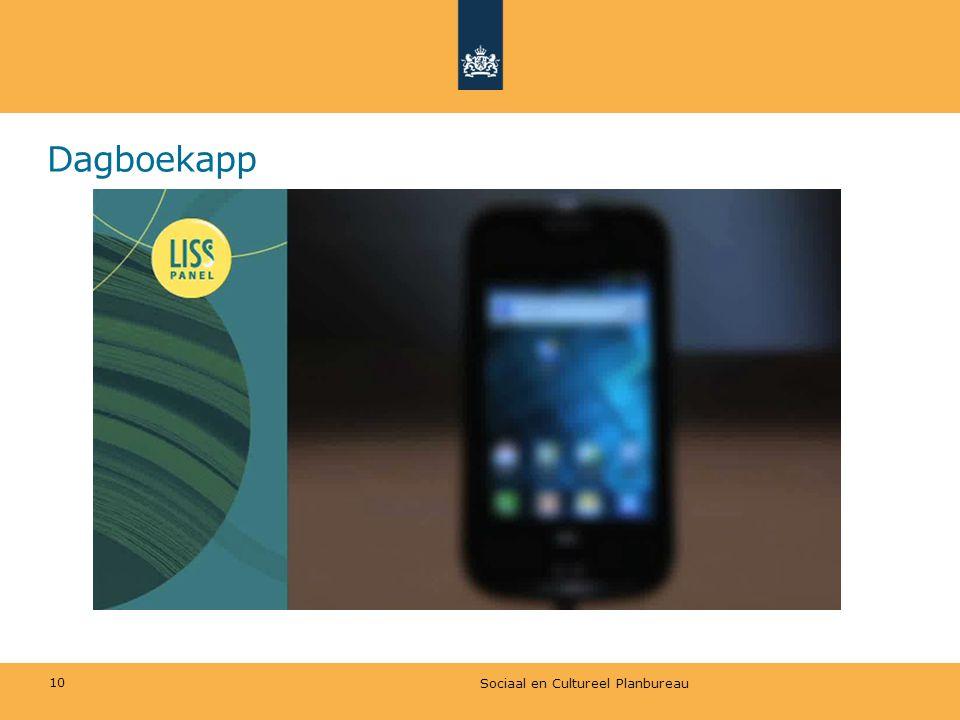 Dagboekapp Sociaal en Cultureel Planbureau