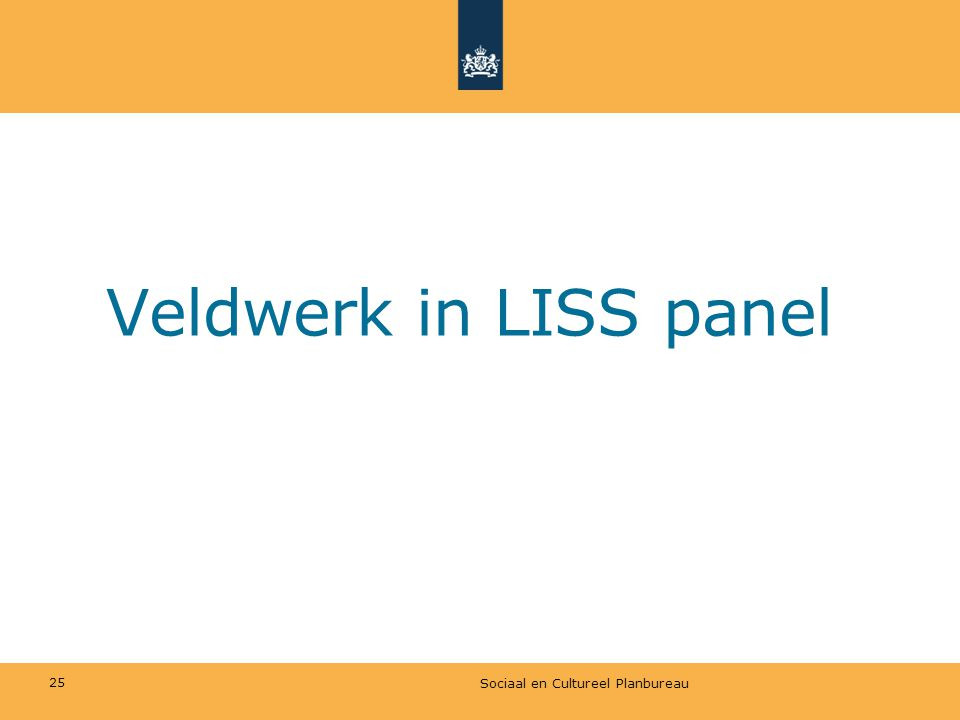 Veldwerk in LISS panel Sociaal en Cultureel Planbureau