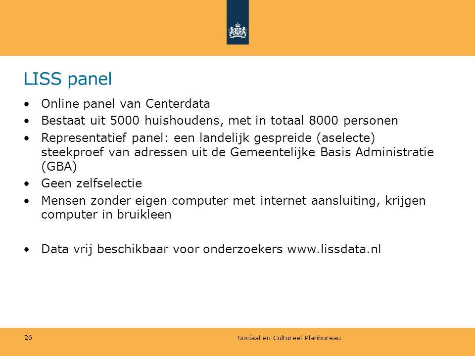 LISS panel Online panel van Centerdata