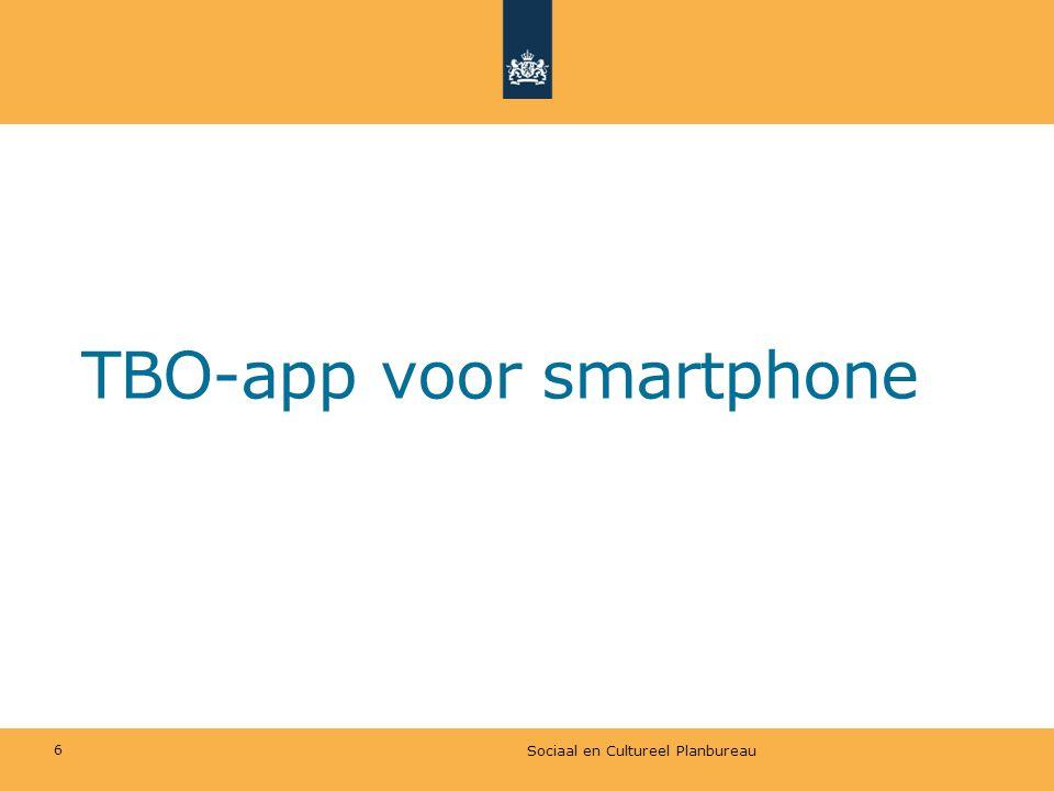 TBO-app voor smartphone